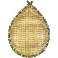 Casa Organizadores Multiusos Signes Grimalt Bamboo Tray Fruit Bowl Amarillo