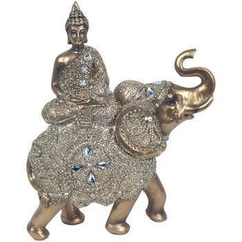 Casa Estatuetas Signes Grimalt Buda Sentado Em Um Elefante Dorado