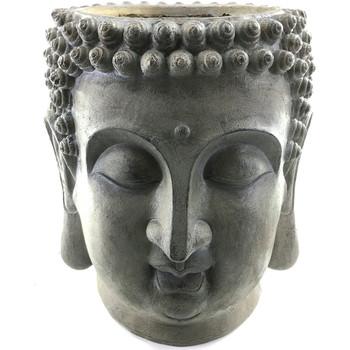 Casa Estatuetas Signes Grimalt Stand Cabeça Buddha Gris