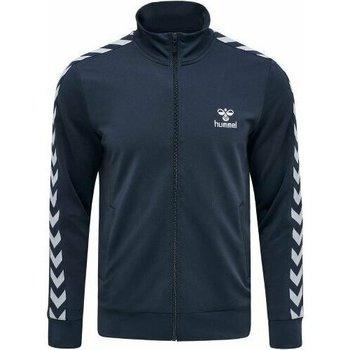 Textil Homem Casacos fato de treino Hummel Veste Zip  Nathan 2.0 bleu marine/blanc