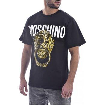 Textil Homem T-Shirt mangas curtas Moschino ZA0716 Preto