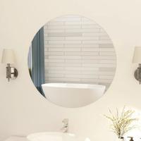 Casa Espelhos VidaXL Espelho de parede Φ 80 cm Prateado