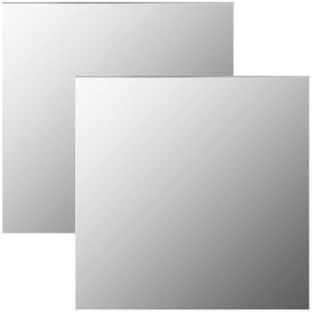 Casa Espelhos VidaXL Espelho de parede 60 x 60 cm Prateado