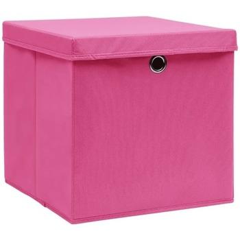 Casa Cestos e Caixas decorativas  VidaXL Caixa de arrumação Cor-de-rosa