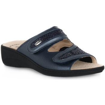 Sapatos Mulher Chinelos Grunland BLU 68ESTA Blu