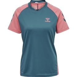 Textil Criança T-shirts e Pólos Hummel Maillot d'entrainement enfant  hmlACTION bleu/rose