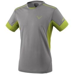 Textil Homem T-Shirt mangas curtas Dynafit Vertical 2 M SS Cinzento, Verde claro