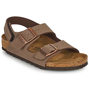 Sapatos Rapaz Sandálias Birkenstock MILANO HL Castanho