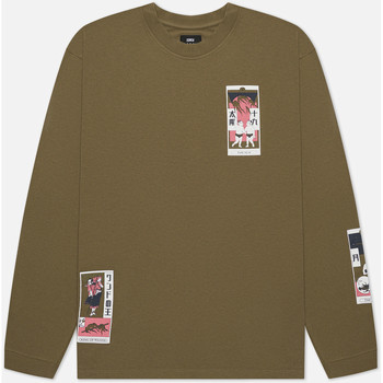 Textil Homem T-shirts e Pólos Edwin T-shirt manches longues  Tarot Deck II vert olive