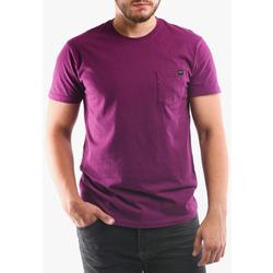 Textil Homem T-shirts e Pólos Edwin T-shirt avec poche violet