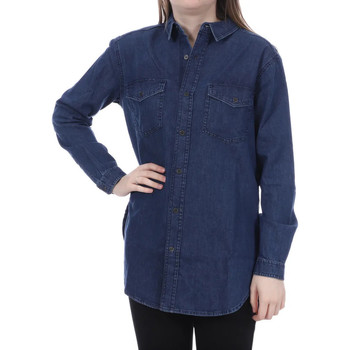Textil Mulher camisas French Connection  Azul