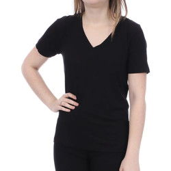 Textil Mulher T-Shirt mangas curtas French Connection  Preto