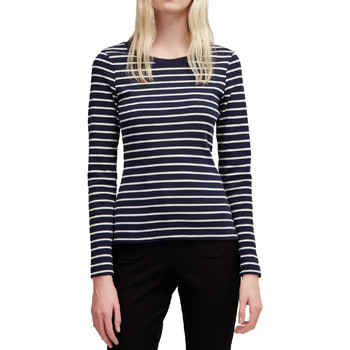 Textil Mulher T-shirt mangas compridas French Connection  Azul