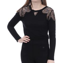 Textil Mulher T-shirt mangas compridas French Connection  Preto