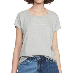 Textil Mulher T-Shirt mangas curtas French Connection  Cinza