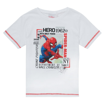 Textil Rapaz T-Shirt mangas curtas TEAM HEROES  SPIDERMAN TEE Branco