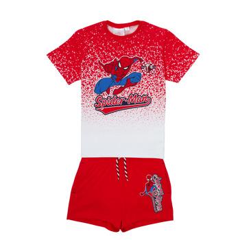 Textil Rapaz Conjunto TEAM HEROES  SPIDERMAN SET Multicolor