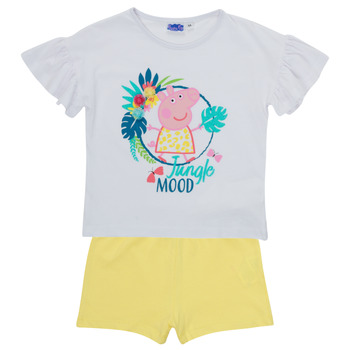 Textil Rapariga Conjunto TEAM HEROES  PEPPA PIG SET Multicolor