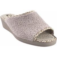 Sapatos Mulher Chinelos Andinas Vá para a casa da Sra.  9162-26 bege Branco