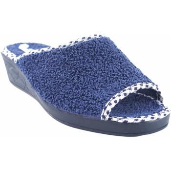 Sapatos Mulher Chinelos Andinas Vá para casa Sra.  9162-26 azul Azul