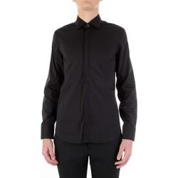 Textil Homem Camisas mangas comprida Manuel Ritz 3030E651-213229 Preto