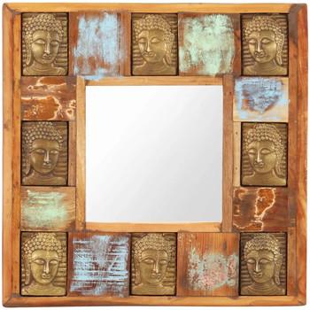 Casa Espelhos VidaXL Espelho 50 x 50 cm Marrom