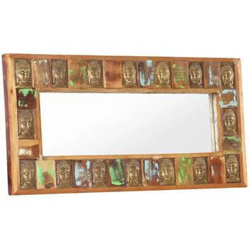 Casa Espelhos VidaXL Espelho 110 x 50 cm Marrom