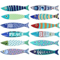 Casa Estatuetas Signes Grimalt Peixes Magnético 12 De Setembro L Multicolor