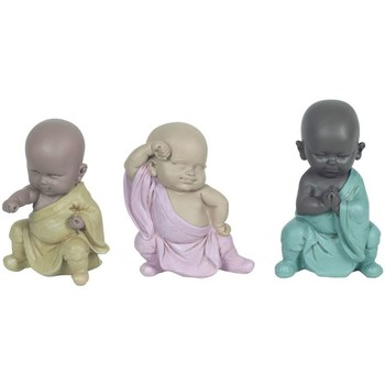Casa Estatuetas Signes Grimalt 3 Diferentes Luta Buddha Em Multicolor