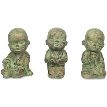 Casa Estatuetas Signes Grimalt Pequeno Buda Set 3 Unidades Crudo