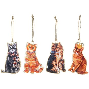 Casa Decorações festivas Signes Grimalt Hanging Cat Setembro Em 4 U Multicolor