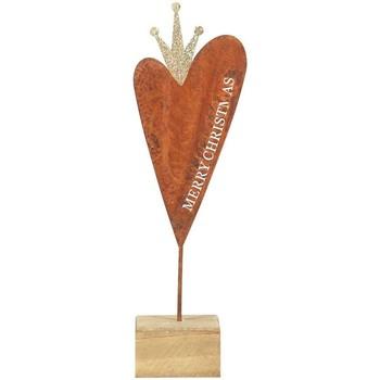 Casa Decorações festivas Signes Grimalt Coração De Madeira Base De Pequeno Multicolor