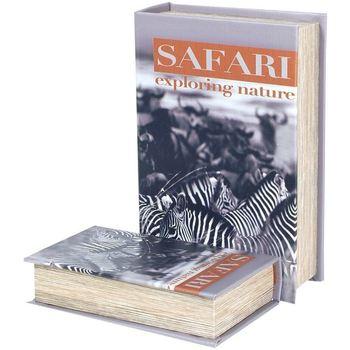 Casa Malas, carrinhos de Arrumação  Signes Grimalt Caixas De Livros 2U Do Safari Zebra Multicolor