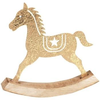 Casa Decorações festivas Signes Grimalt Cavalo De Inclinação Dorado