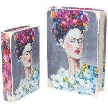 Casa Malas, carrinhos de Arrumação  Signes Grimalt Caixas Livro Frida 2U, Em Setembro Multicolor