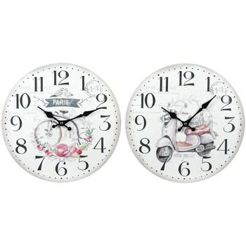 Casa Relógios Signes Grimalt 2 Diferente 2U Relógio De Parede Blanco