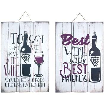 Casa Quadros, telas Signes Grimalt Wall Plate Wine 2 Dif. Multicolor