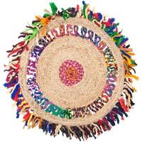 Casa Tapetes Signes Grimalt As Franjas De Tapete De Juta Multicolor