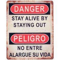 Casa Quadros, telas Signes Grimalt Placa De Parede Perigo / Perigo Multicolor