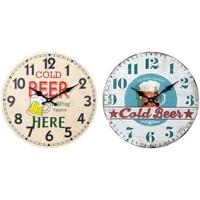 Casa Relógios Signes Grimalt Relógio De Parede Cerveja 2U Em Setembro Multicolor
