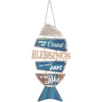 Casa Quadros, telas Signes Grimalt Wall Hanging Ornamento Dos Peixes Azul