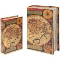 Casa Malas, carrinhos de Arrumação  Signes Grimalt World Book Boxes Set 2U Multicolor