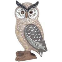 Casa Estatuetas Signes Grimalt Owl Pequenos Toques Dorados Marrón