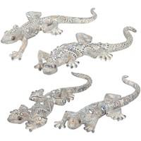 Casa Estatuetas Signes Grimalt Lizard 4 Dif. Plateados Crudo