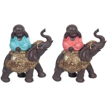 Casa Estatuetas Signes Grimalt Buda Em Elefante Set 2U Multicolor