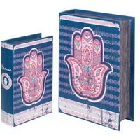 Casa Malas, carrinhos de Arrumação  Signes Grimalt Fátima 2U Caixas Livro De Mão Azul
