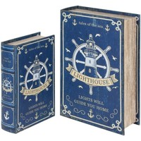 Casa Malas, carrinhos de Arrumação  Signes Grimalt Caixas De Livros Do Leme Set 2U Azul