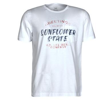 Textil Homem T-Shirt mangas curtas Lee SS POSTER TEE Branco