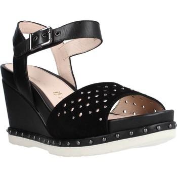 Sapatos Mulher Sandálias Stonefly ARTY 1 VELOUR/CALF Preto