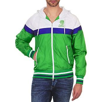 Textil Homem Jaquetas Franklin & Marshall MELBOURNE Verde / Branco / Azul